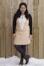 Dark-brown-dsw-boots-neutral-tony-chestnut-dress-dark-gray-primark-tights