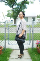 Payless shoes - Daniel Footwear bag - joe fresh style pants - threadsence top