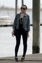 Zara top - Forever21 leggings - Zara shoes - Marc by Marc Jacobs jacket - Foreve