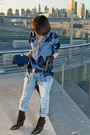 Blue-shirt-blue-vintage-levis-jeans-blue-accessories-blue-celine-gloves-