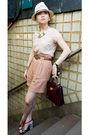 Pink-h-m-blouse-beige-zara-shorts-brown-zara-belt-brown-givenchy-bag-bei
