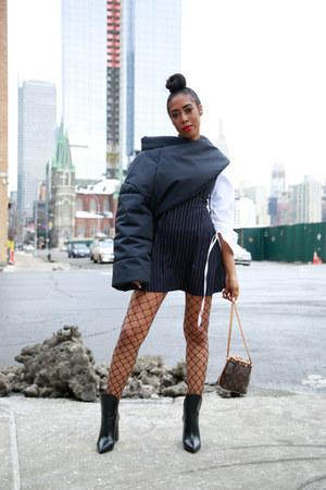 boots - Pixie Market dress - SSENSE jacket - LV bag
