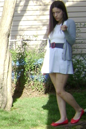 Target shirt - Old Navy sweater - forever 21 belt - Goodwill skirt - forever 21 