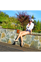 navy navy Accessorize swimwear - white c&a shirt - black New Yorker sunglasses