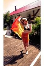 orange scarf - orange H&M sunglasses - black swimwear
