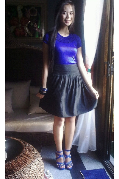 blue YRYS top - black Kamiseta skirt - blue michael antonio shoes - black Girlsh