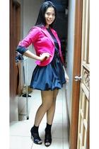 H&M blazer - tailored dress - Janylin shoes - SM deptstore belt