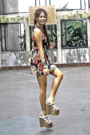 ruby red floral dress Hip Culture dress - 6 5inches Andre Chang for JellyBean we