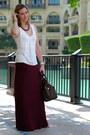 Dark-brown-louis-vuitton-bag-brick-red-promod-necklace