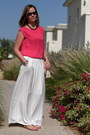 Hot-pink-promod-top-white-promod-skirt-maroon-promod-necklace