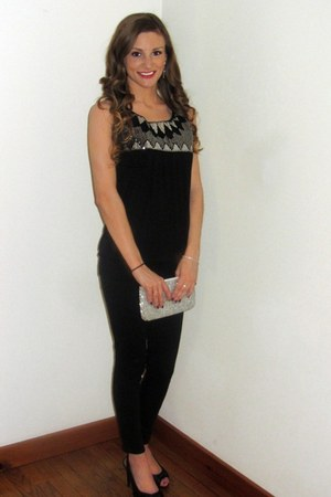 black sequined Maurices top