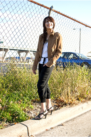 H&M jacket - Forever 21 pants - from bangkok shoes