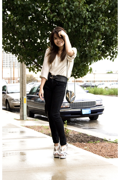 H&M shirt - Mango jeans - Topshop shoes - Forever21 belt