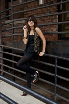 gold gold vest vintage vest - black Jeffrey Campbell shoes