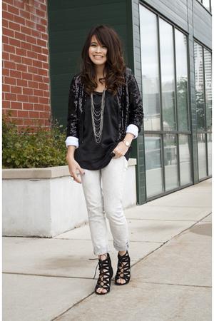 H&M jacket - Topshop jeans - Aldo shoes