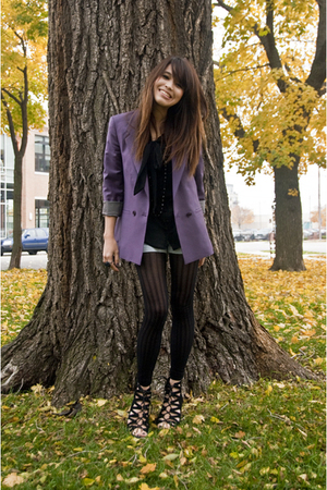 Topshop blazer - Urban Outfitters stockings - Aldo shoes