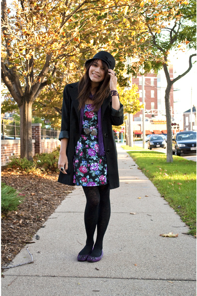 local brand coat - Urban Outfitters scarf - Urban Renewal dress - Forever 21 sho