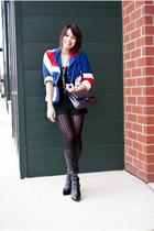 black black boots Bakers boots - blue Topshop blazer
