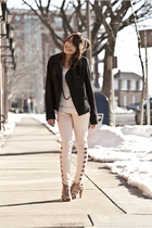 beige Topshop shoes - black Gap coat - pink Topshop jeans
