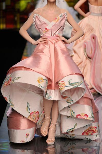 pink dior dress