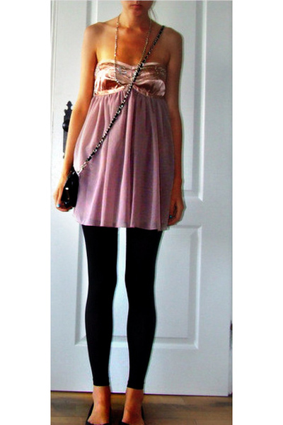 forever 21 dress - Urban Outfitters leggings - Aldo shoes - Chanel purse