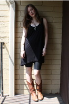 American Apparel dress - tights - thrifted boots