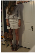Brooks Brothers shirt - Gap skirt - Nine West shoes - purse