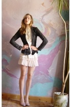 H&M jacket - Miss Selfridges skirt - Bershka blouse