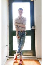 Clarks Originals shoes - Uniqlo jeans - daniele alessandrini shirt