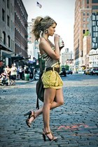scarf - purse - shorts - sandals - top - accessories