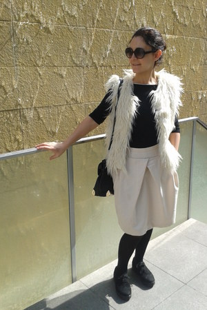 H&M sunglasses - wool Sonia Rykiel skirt