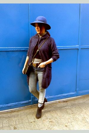 blue Basement hat - ombre Topshop jeans