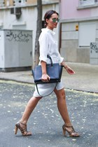 white Ferrache dress - black Michael Kors bag - Zara sunglasses