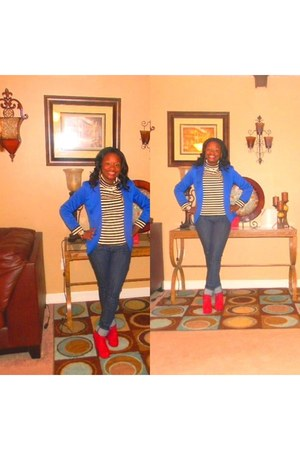 blue gold Forever 21 blazer - denim Old Navy jeans