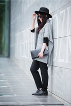 black Centro shoes - black H&M hat - silver Pretty girl sweater