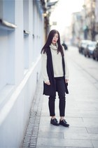 black oxfords Even&Odd shoes - ivory turtleneck c&a sweater