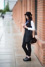 Black-creepers-bershka-shoes-black-bowler-hat-reserved-hat