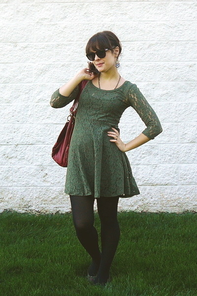Target green and black dress
