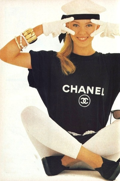black Chanel shirt