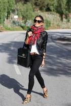 plaid Nordstrom scarf - leopard print Forever 21 shoes