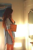 leather bag Marc Jacobs bag - blue striped Ebay dress