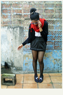 Black-cardigan-black-skirt-white-top-black-boots-black-stockings-red-s