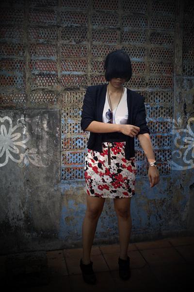 black Thrift Store blazer - black Blok M underground boots