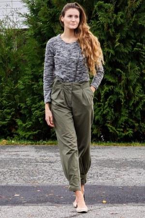 heather gray vintage lindex jacket - army green cargo H&M pants