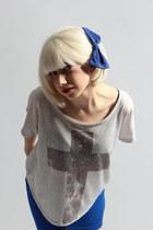 Forever 21 top - Zara skirt - American Apparel accessories