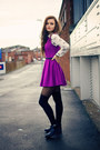 Black-cut-out-topshop-boots-purple-pleated-skater-topshop-dress