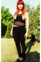 mesh crop top H&M top