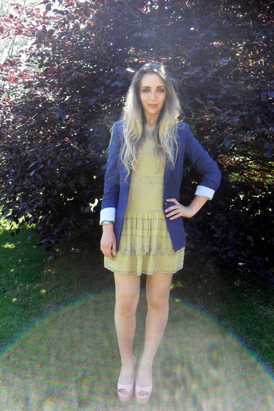 yellow Topshop dress - pink Kurt Geiger shoes