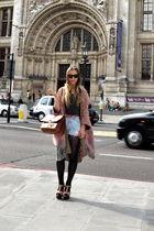 blue levi cut offs vintage shorts - brown Topshop shoes