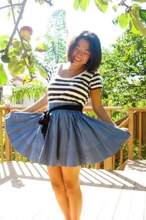 striped shirt - skirt